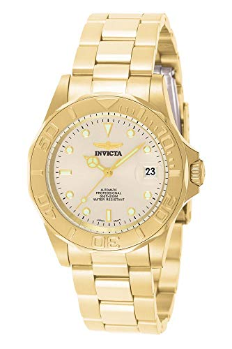 Invicta Men's Pro Diver 40mm Gold Tone Stainless Steel Automatic Watch, Gold/Champagne (Model: 9010)