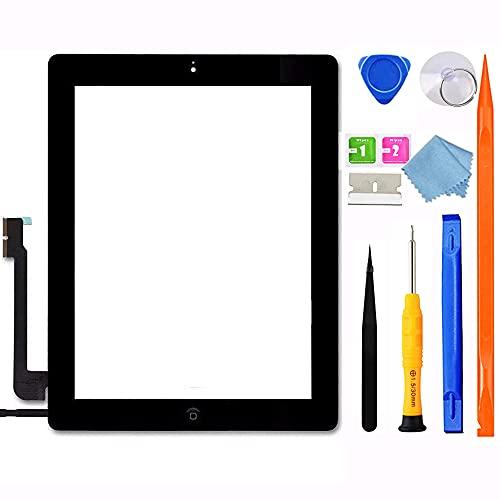 JPUNG GoodFixer Digitalizador para iPad 4 Pantalla táctil 9.7 Plg A1458 A1459 A1460, con botón de inicio, kit de reparación completo