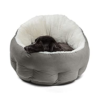 Best Friends by Sheri OrthoComfort JUMBO/Large Deep Dish Cuddler - Self-Warming Cat and Dog Bed Cushion for Joint-Relief and Improved Sleep, Gray, Ilan