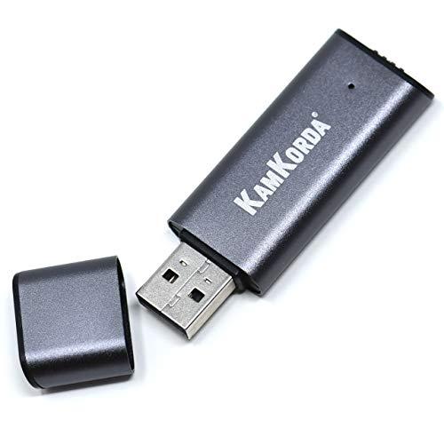 KamKorda Digitales Diktiergerät / 8 GB USB Speicherstick / Diktiergerät / Spionage-Recorder für Büro, Meetings, Universität, Vorträge, Interviews, Silber / Grau