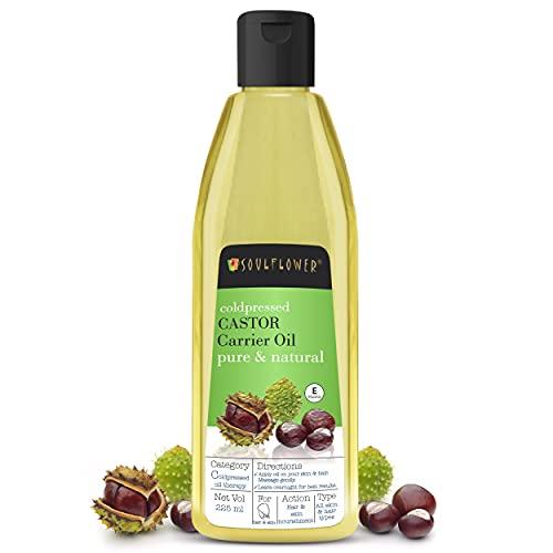 Soulflower Castor Oil, 225ml for Hair, Skin &...