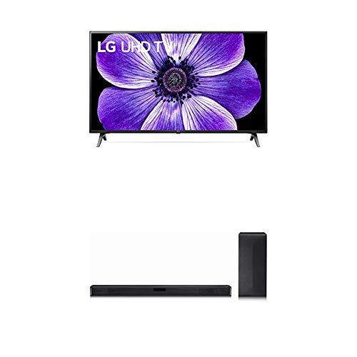 LG 55UN71006LB 139 cm (55 Zoll) UHD Fernseher (4K, Triple Tuner (DVB-T2/T,-C,-S2/S), Active HDR, 50 Hz, Smart TV) [Modelljahr 2020] + Soundbar LG DSN4
