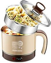 XJJZS Mini Deux Couche électrique à Vapeur étudiant dortoir Noodles Hot Pot poêlon en Acier Inoxydable Cuiseur à Vapeur (S...