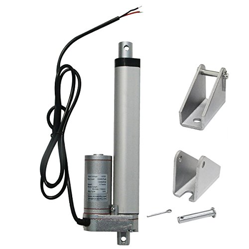 ECO-WORTHY 150MM 12V Linear Motor Actuator Heavy Duty 330lbs Solar Tracker Multi-Function for Electroic,Medical,Auto Use