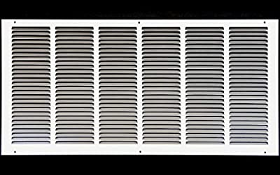 """30""""w X 12""""h Steel Return Air Grilles - Sidewall and Ceiling - HVAC Duct Cover - [Outer Dimensions: 31.75""""w X 13.75""""h]"""