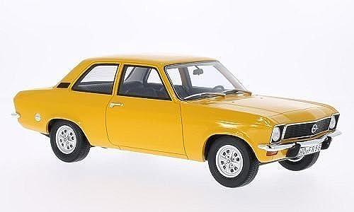 Opel Ascona A, 2-Türer, limitierte Auflage 1.000 Stück , dunkelgelb, 1973, Modellauto, Fertigmodell, BoS-Models 1 18