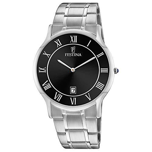 Festina Herren Analog Quarz Uhr mit Edelstahl Armband F6867/3