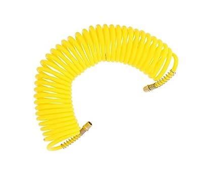 """ABN 1/4"""" Inch Recoil Hose – Portable Polyurethane Coil Hose for Air Compressor, Nailer, Sprayer, Staple Gun"""