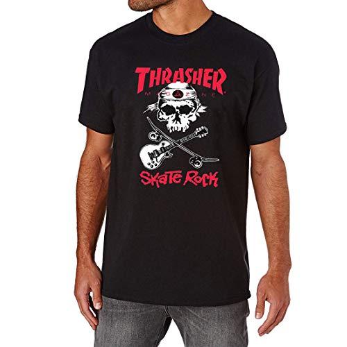 Thrasher Skaterock T-Shirt Unisexe Adulte S Noir