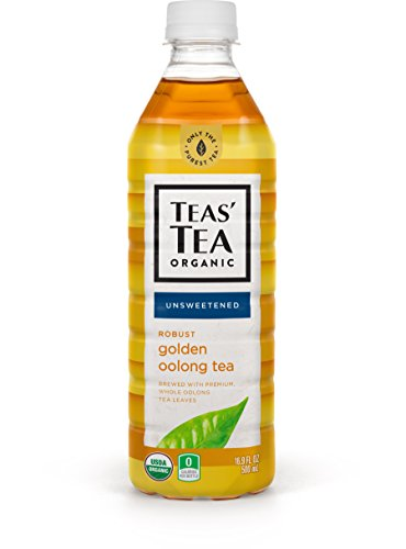 Teas' Tea Unsweetened Golden Oolong Tea 16.9 Ounce (Pack of 12), Sugar Free, 0 Calories