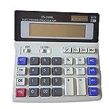 Calculadora de escritorio Yeawooh con función estándar de 12 dígitos, DS-200 ml, con batería solar