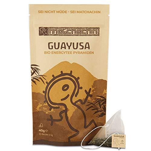 Guayusa Energypyramiden BIO - von Matchachin (40 g / 10 Teebeutel a 4g) Leistung, Ausdauer, Konzentration + mögliche Nebenwirkung: luzides träumen