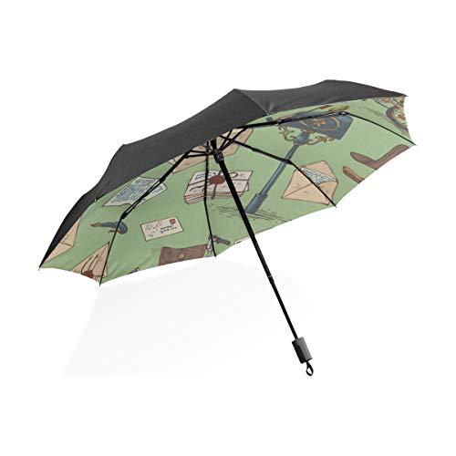 Reise Regenschirm Totes Frühling Romantische Briefkasten Blume Tragbare Kompakte Taschenschirm Anti Uv Schutz Winddicht Outdoor Reise Frauen Regenschirme Für Frauen