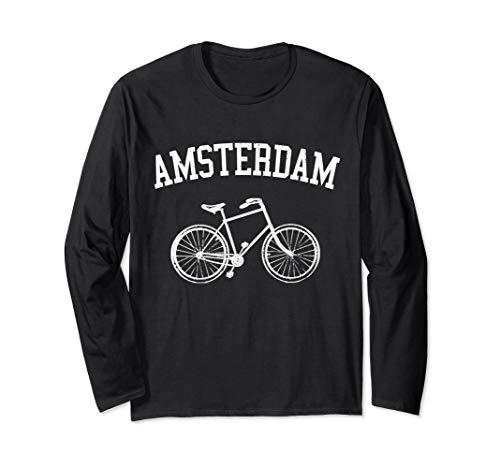 Amsterdam Hollandrad Fahrrad Holland Niederlande Souvenir Langarmshirt