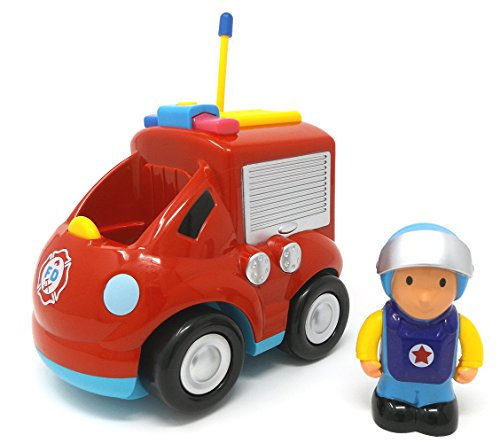 RC Auto kaufen Feuerwehr Bild 3: Brigamo Feuerwehr Ferngesteuertes Auto Feuerwehrauto mit Sirene und Herausnehmbare Feuerwehrmann Figur*