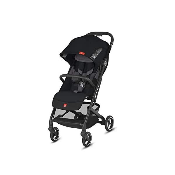 gb Gold Qbit+ Luxury Travel Travel System 3 in 1 Qbit+ All City Velvet Black GB GOLD High quality pushchair from birth to 22 kg (approx. 4 years), with one-handed folding system and horizontal position. Optimal comfort: one-handed adjustable backrest and footrest, head and shoulder protectors for comfort, easy handling on surfaces, lockable and cushioned front wheels Simple one-handed folding to carry size (27 x 43 x 58 cm), usable as a 3-in-1 travel system with adapter available separately for gb and CYBEX baby carriage and Cot to Go carrycot 1