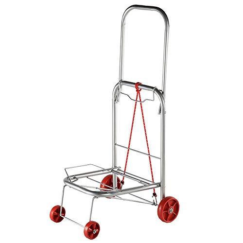 SongMyao Einkaufstrolleys Folding Wagen Lebensmittelwasserdicht Kletter Wagen Werkzeugwagen Wäsche Einfacher Transport Einkaufswagen (Color : Silver, Size : 46.3 * 42.8 * 92.5cm)