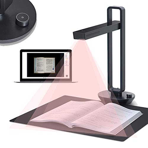 Great Price! Enweonga Document Cameras Scanner, 14MP Professional HD Book Photo Scanner with Foot Pe...