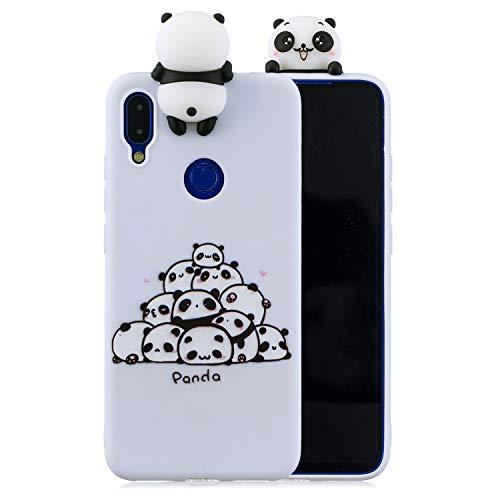 Suhctup - Funda de silicona para Xiaomi Redmi Note 8, ultra fina, suave, antigolpes 3D, con muñeco protector, antideslizante, antiarañazos y a la moda - Panda1
