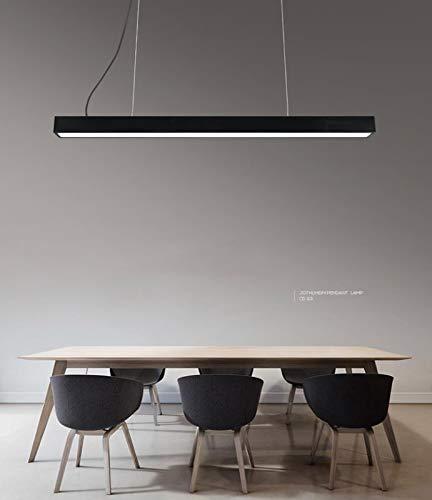 LED HausLeuchten 26W ,2700lm 6000k, altura ajustable de la lámpara de mesa de comedor,Luces de tira de LED luces colgantes (24W-Negro)