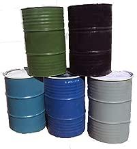 One 55 Gallon Used/Reconditioned Steel Trash Barrel   Burn Drum   Utility Storage   Refuse Composting Barrel   Random Color