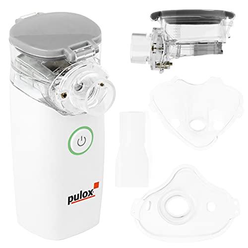 Pulox Inhalator Vernebler Inhalationsgerät IN-100 Nebulizer mit Maske für Kinder und Erwachsene tragbar und leise
