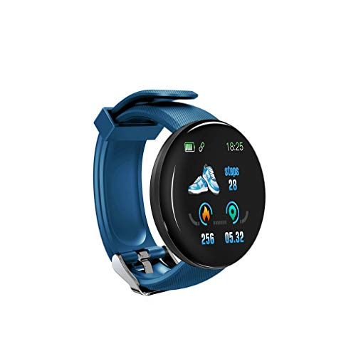 Riou D18 Smart Watch,wasserdichte Smartwatch BT 4.0 Fitness-Tracker, Support Benachrichtigung Schrittzähler Herzfrequenz Blutdruck Blutsauerstoff-Überwachung Multi-Sport-Modus