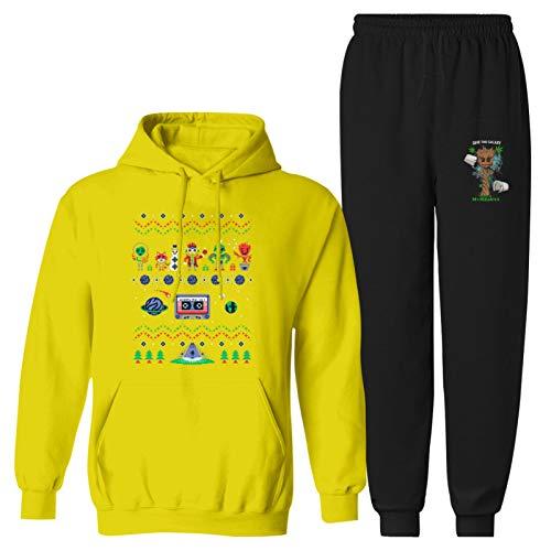 Navidad G-ro-ot 2 piezas Juvenil Sudadera con capucha y sudadera de manga larga Chándal para niños y niñas