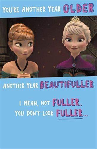Frozen Anna Elsa Sie Another Year Older Geburtstagskarte Disney