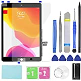 Touch Screen Digitizer for iPad 7/8 2019 2020 8th/9th Generation A2197 A2198 A2200 A2270 A2428 A2429 A2430 Front Glass Replacement (with Tempered Glass Film,Tool Repair kit,Without Home Button)