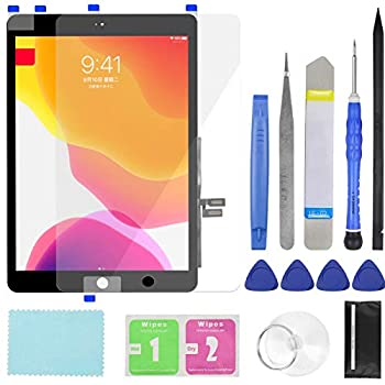 Touch Screen Digitizer for iPad 7/8 2019 2020 8th/9th Generation A2197 A2198 A2200 A2270 A2428 A2429 A2430 Front Glass Replacement  with Tempered Glass Film,Tool Repair kit,Without Home Button