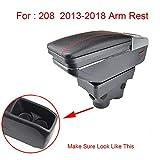 tbparts Car Apoyabrazos Caja para 208 del resto del brazo giratorio Caja de almacenamiento Decoración Car Styling para