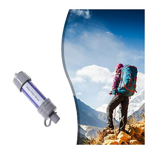 ZHAO Survival Water Filter Straw Personal Purifier Filtration Emergency Outdoor Gear (Color : Blue)
