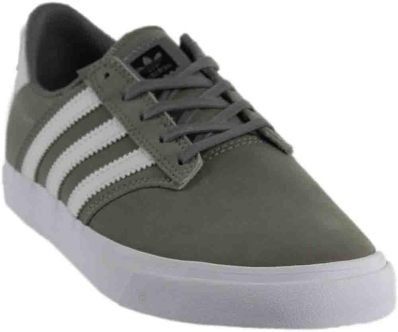 Adidas Originals Seeley Premiere Fashion Sneaker  Charcoal Solid Grey Footwear White Footwear White  Mens  12