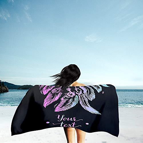 Surwin Grande Toalla de Playa de Microfibra Toalla 3D Atrapasueños Impresión de Secado Rápido Súper Absorbente Natación Toalla de Arena Antiadherente para Playa (Morado Degradado,70x150cm)