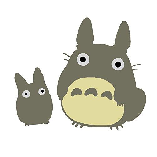 "Bargain Max Decals Totoro Characters Inspired Grey Studio Ghibli Window Laptop Car Sticker 5.5"""