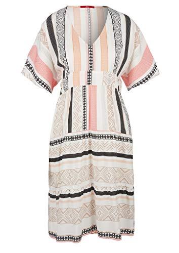 s.Oliver Damen  Sommerkleid Kleid,  02A6 Creme AOP,  L