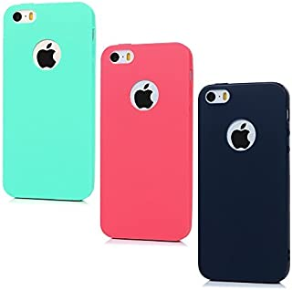 For iPhone SE Case , iPhone 5/5S Case, YOKIRIN 3 Pieces Canday Series Full Matte Soft Touch Slim-Fit Hybrid Slim Cushion Premium Flexible Soft TPU Extra Grip Gel Silicone Case Cover Skin