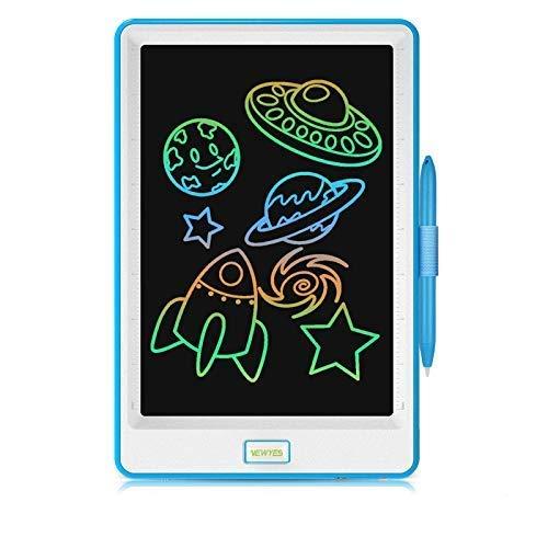 NEWYES - Tablet LCD da 10 Pollici, Display Colorato, Blocco Note Elettronico per Bambini e Adulti (Blu)