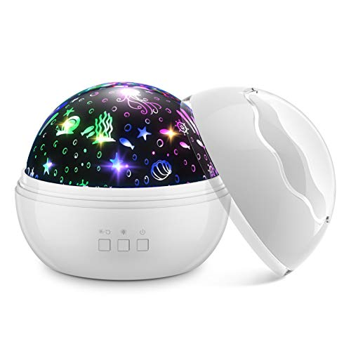 Dreamingbox Juguetes Bebe 3-12 Meses, Lampara Bebe Regalos Niños Cumpleaños Luz de Noche Juguetes Niña 2-8 Años Regalos para Niñas de 1-12 Años Juguetes para Niños Blanco