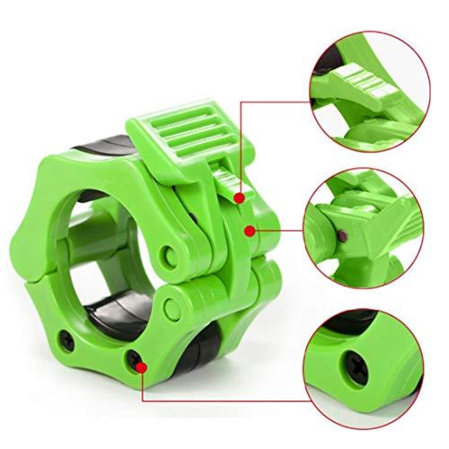 XINFULUK EIN Paar Barbells Lock Jaw Gewichtheberhalsbänder Schnellverschluss-Nylon-Verriegelungsklemmen Muskeltrainingsstange Lockjaw 2