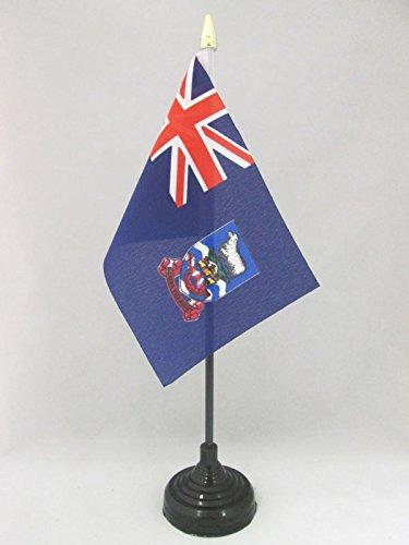 AZ FLAG Bandera de Mesa de Las Islas Malvinas 15x10cm - BANDERINA de DESPACHO DE Falkland Islands 10 x 15 cm Punta Dorada