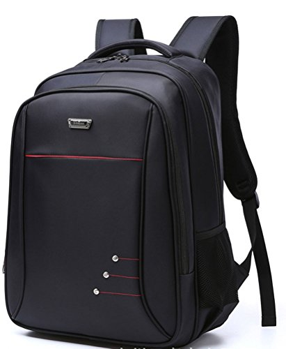 beibao shop Backpack Sacs à Dos pour Ordinateur Portable Commerce Casual Épaules Oxford Extérieur Voyager Multi-Fonctionnel Sac à Dos d'ordinateur, Black