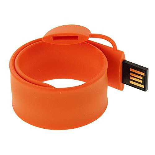 Fengyuechen Memorias USB, Disco Flash USB Pulsera de Silicona con Memoria de 32 GB, (Color : Orange)
