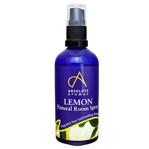 Absolute Aromas Ambientador Natural de Limón 100ml con Aceite Esencial Puro de Limón (Citrus Limonum) - 100% Puro, Natural, Vegano, Sin Diluir y Sin Crueldad