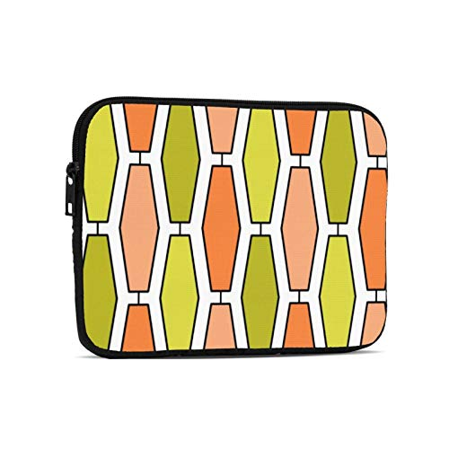 Mod Elongated Hexagon Orange And Avocado Laptop Case Protective Sleeve Bag Briefcase Work Business Slim Tablet Handbag for 9.7 inch Notebook Tablet