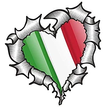 Paar Schmetterlinge Design mit Italien Italian Il Tricolore Flagge Autoaufkleber