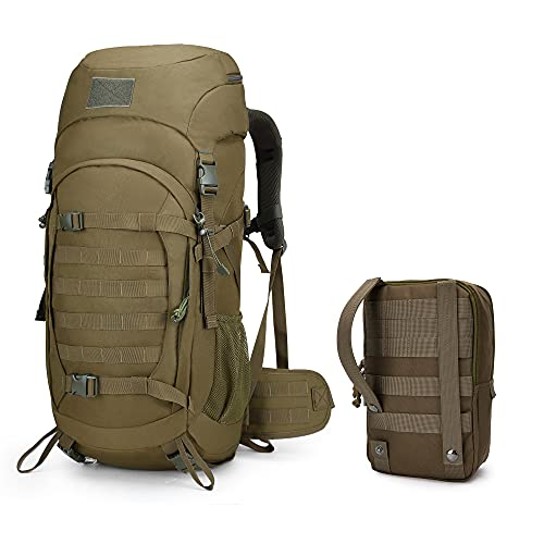Mardingtop 50 litros mochilas de trekking tácticas para adultos mochila mochila de senderismo al aire libre y bolsa de accesorios