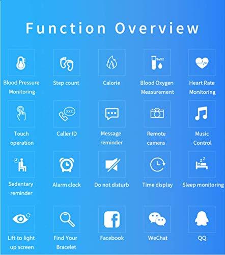 Pulsera inteligente con pantalla a color, monitor de frecuencia cardíaca impermeable, Fitness Tracker Bluetooth, reloj… 2