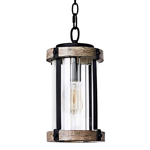 MOTINI Outdoor Pendant Lights for Porch, 1-Light Exterior...
